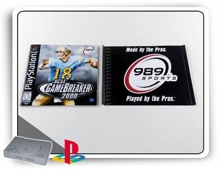 Encarte E Manual Ncaa Game Breaker 2000 Original Ps1