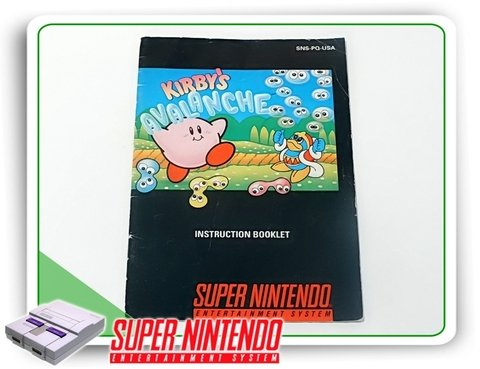 Manual Kirbys Avalanche Original Snes Super Nintendo
