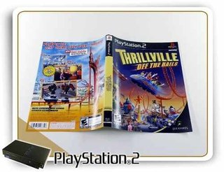 Encarte Thrillville Off The Rails Original Playstation 2 Ps2