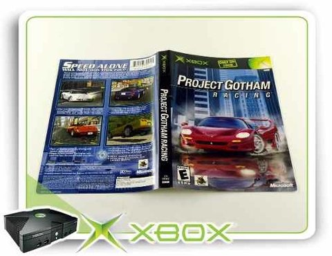 Encarte Project Gotham Racing Original Xbox Clássico