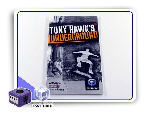Manual Tony Hawks Underground Original Nintendo Gamecube