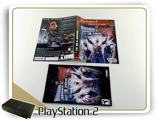 Encarte E Manual Www Smack Down Vs Raw 2011 Original Ps2