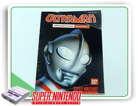 Manual Ultraman Original Snes Super Nintendo