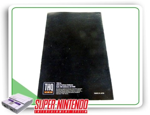 Manual Manual Brunswick World Tournament Original Snes - comprar online