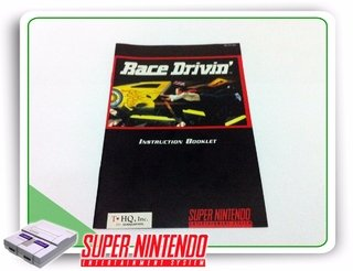 Manual Race Drivin Original Super Nintendo Snes
