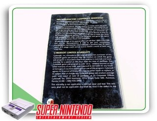 Manual Brutal Paws Of Fury Original Super Nintendo -sem Capa