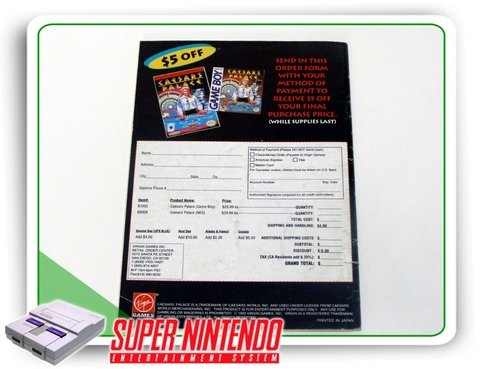 Manual Super Caesars Palace Original Snes Super Nintendo - comprar online