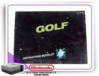 Manual Golf Original Nintendinho Nes 8-bits