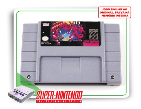 Super Metroid Super Nintendo Snes - Novo Com Save