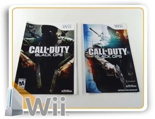 Encarte E Manual Call Of Duty Black Ops Origin. Nintendo Wii
