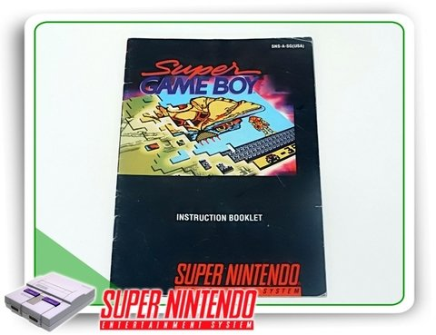Manual Super Game Boy Snes Super Nintendo Original