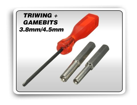 Kit Chaves Gamebit 3.8mm + 4.5mm + Triwing Ds Snes N64 3ds