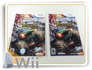 Encarte E Manual Monster Jam Path Of Destructio Nintendo Wii