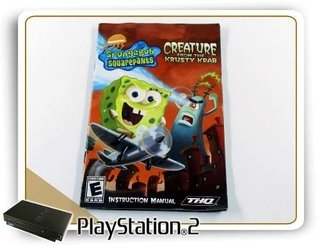 Manual Spongebob Squarepants Creature Krusty Krab Orig. Ps2