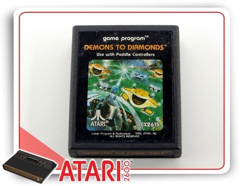 Demons To Diamonds Atari Cartucho Original