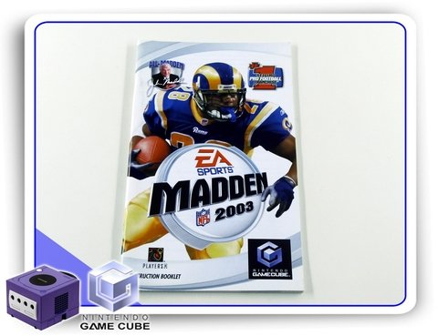 Manual Madden Nfl 2003 Original Nintendo Gamecube
