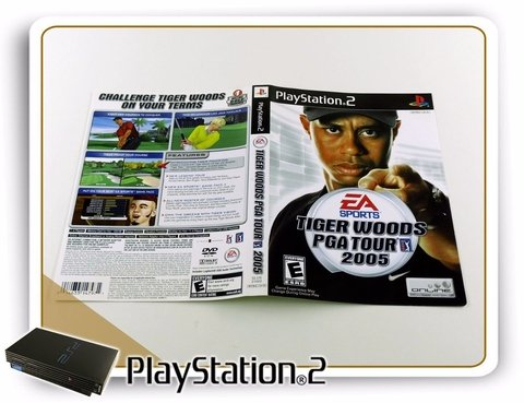 Encarte Tiger Woods Pga Tour 2005 Original Playstation 2 PS2