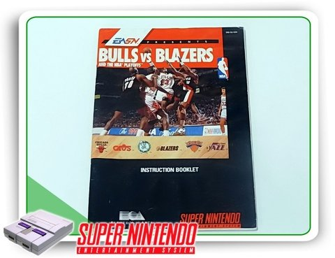 Manual Bulls Vs Blazers Original Snes Super Nintendo
