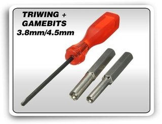 Kit Chaves Gamebit 3.8mm + 4.5mm + Triwing Gameboy N64 Snes