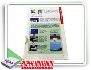 Manual Final Fantasy 2 Original Super Nintendo - Sem Capa