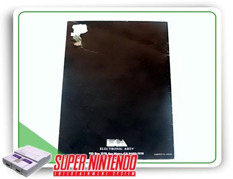 Manual Nhl 95 Original Super Nintendo Snes - comprar online