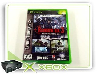 Rainbow Six 3 Companion Demo Disc Original Xbox Clássico