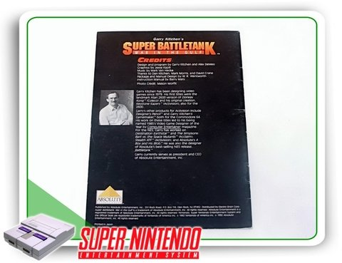 Manual Super Battletank Original Super Nintendo Snes - comprar online
