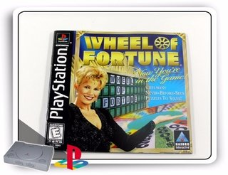 Encarte E Manual Wheel Of Fortune Original Playstation 1