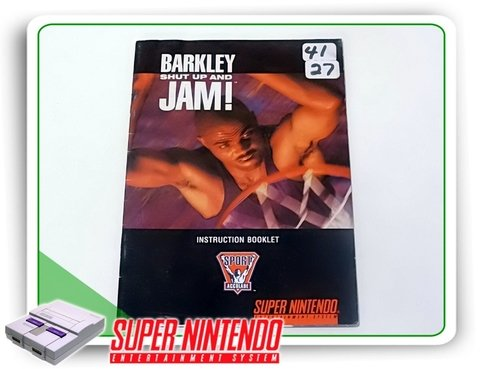 Manual Barkley Shut Up And Jam Original Super Nintendo Snes