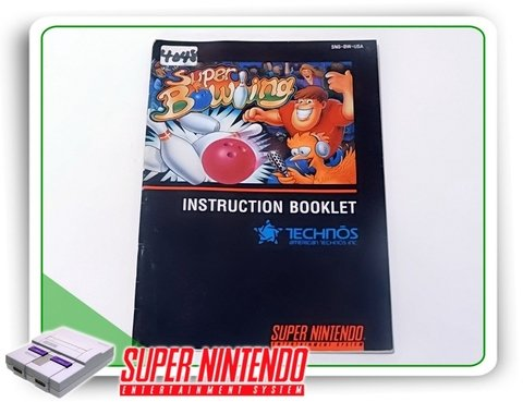 Manual Super Bowling Original Super Nintendo Snes