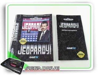 Encarte E Manual Jeopardy Original Sega Mega Drive