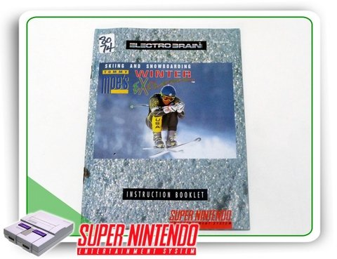 Manual Skiing And Snowboarding Winter Extreme Snes Original