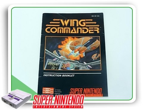 Manual Wing Commander Original Super Nintendo Snes