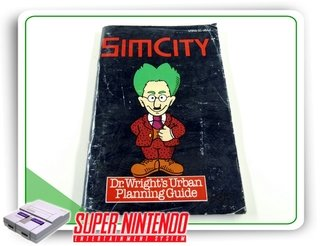 Manual Sim City Original Super Nintendo Snes