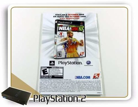 Manual Nhl 2k10 Original Playstation 2 PS2 - comprar online