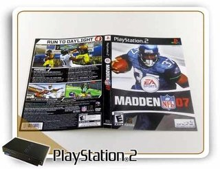 Encarte E Folheto Madden Nfl 07 Original Playstation 2 Ps2