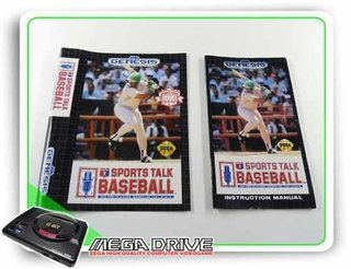 Encarte E Manual Sports Talk Baseball Original Mega Drive