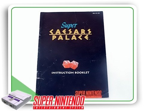 Manual Super Caesars Palace Original Snes Super Nintendo