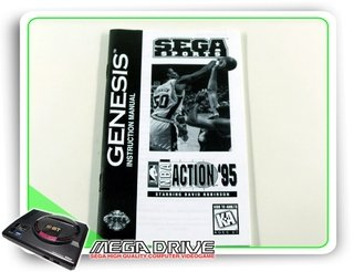 Manual Nba Action 95 Original Sega Mega Drive / Genesis