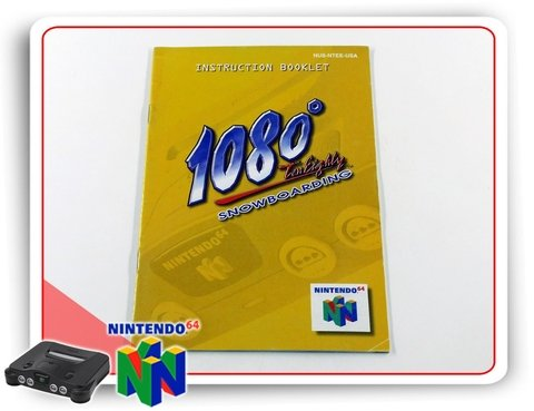 Manual 1080 Snowboarding Original Nintendo 64 N64