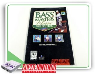 Manual Bass Masters Classic Pro Original Super Nintendo Snes