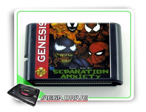 Venom Spider-man Separation Anxiety Mega Drive - Novo