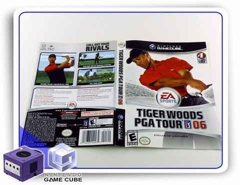 Encarte Tiger Woods Pga Tour 06 Original Gamecube