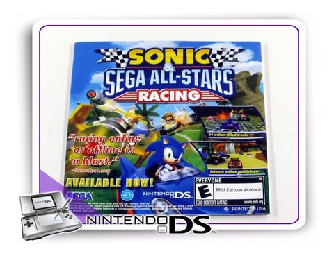 Manual Sonic Colors Ds Original Nintendo Ds - comprar online