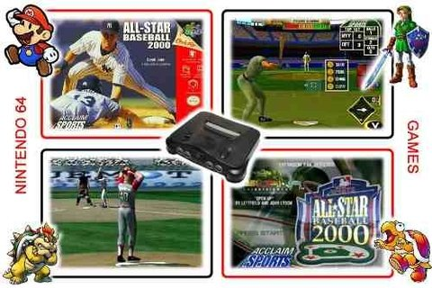All-star Baseball 2000 Original Nintendo 64 N64 - Radugui Store
