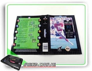 Encarte Nfl Sports Talk Football 93 Original Sega Mega Drive