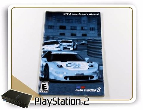 Manual Gran Turismo 3 A-spec Original Playstation 2 PS2