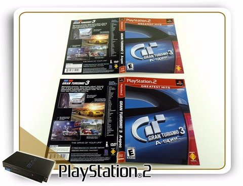 Encarte Gran Turismo 3 A-spec Greatest Hits Original PS2 - comprar online