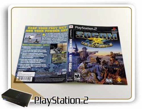 Encarte Socom Us Navy Seals Original Playstation 2 PS2