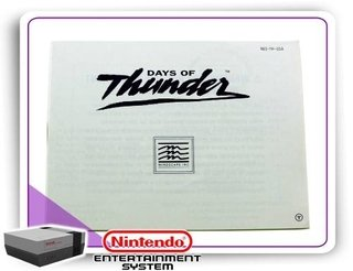 Manual Days Of Thunder Original Nintendinho Nes 8-bits